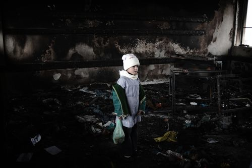 GAZASCHOOLGIRLOlivierLaban-Mattei:AFP:Getty