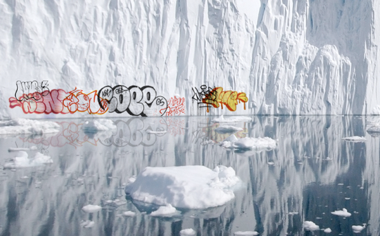 Iceber-grafiti