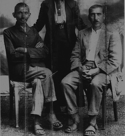 406px-Gandhi,_Sonia_Schlesin,_Hermann_Kallenbach