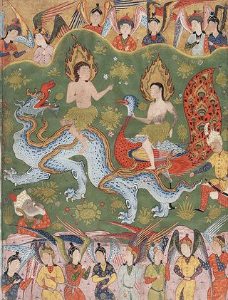456px-Adam_and_Eve_from_a_copy_of_the_Falnama