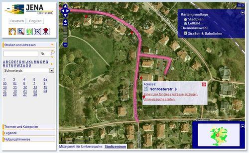 Stadtplan Jena