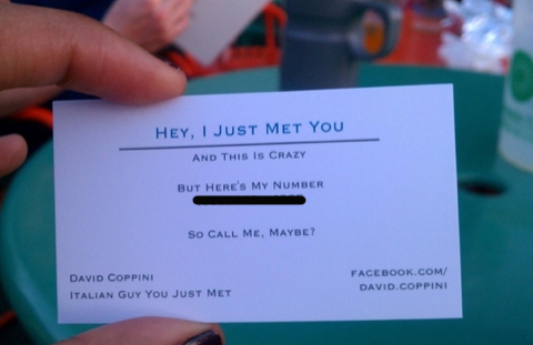 dating business cards