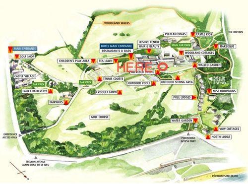 Tregenna map marked
