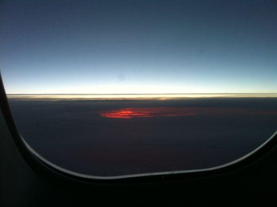 Dawn flying SFO-FRA