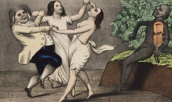 A_Mormon_and_his_wives_dancing_to_the_devil's_tune_1850
