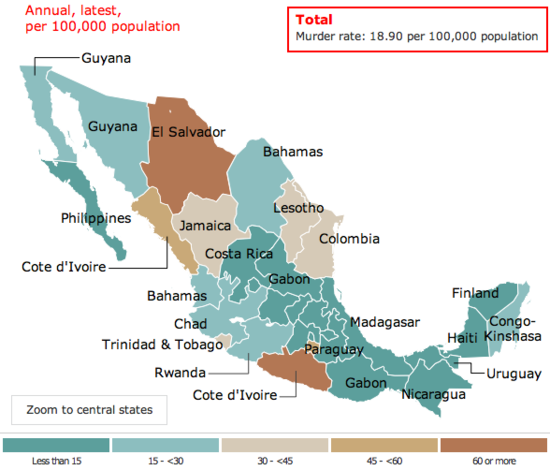 Is Mexico S Crime Wave Ebbing The Dish