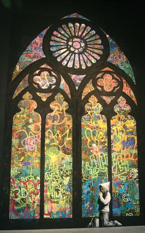 Banksy-pray