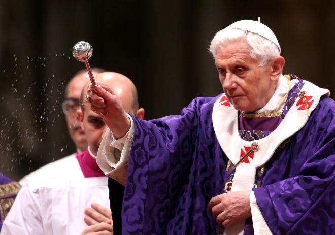 Pope Benedict XVI Celebrates Ash Wednesday Mass - February 13, 2013