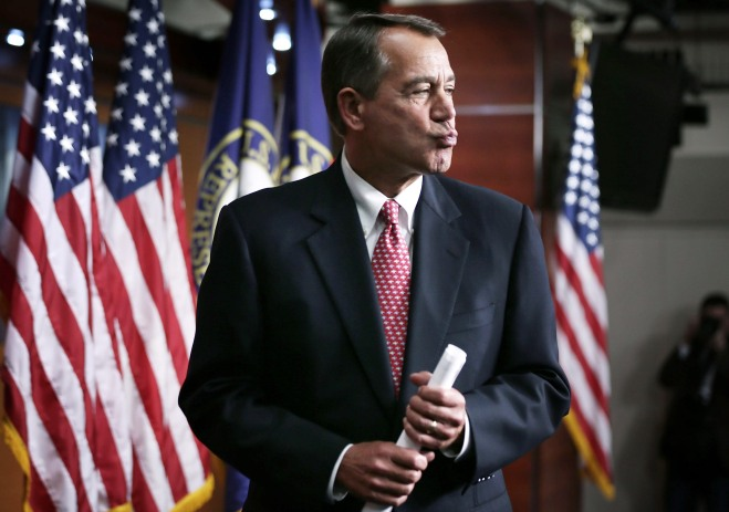 Boehner Holds Press Briefing At The Capitol
