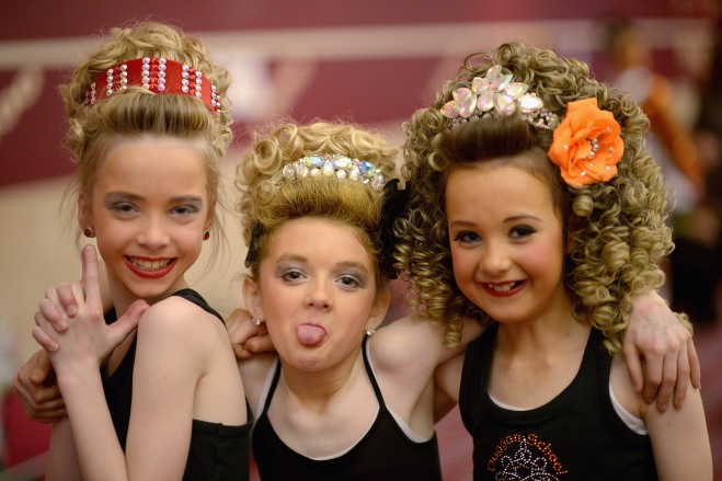 Dancers Compete In The All Scotland Irish Dancing Championships
