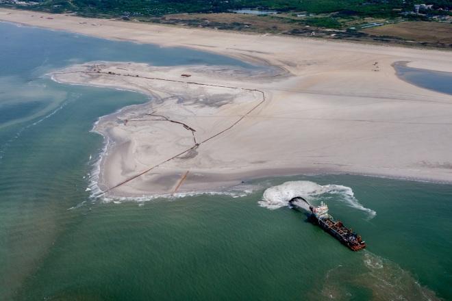 Zandmotor vlucht-11, foto: Rijkswaterstaat/Joop van Houdt