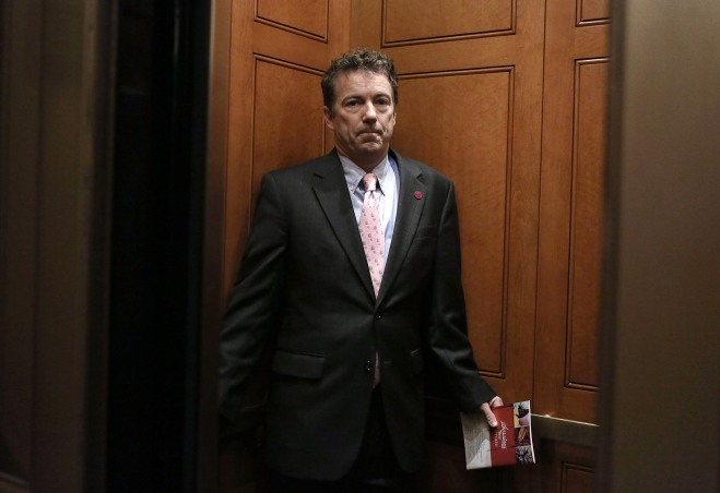 Senators Gather To Caucus Over Hagel Nomination
