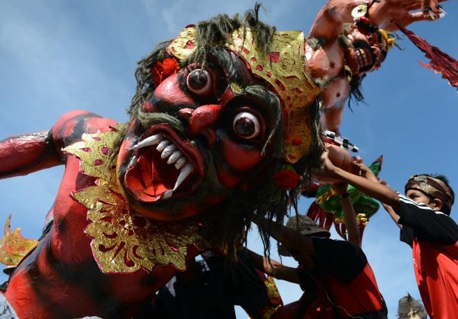 INDONESIA-RELIGION-HINDU-FESTIVAL-NYEPI
