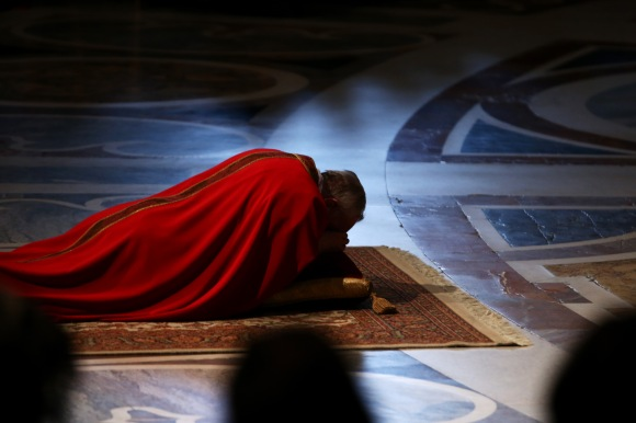 Pope Francis Attends Celebration Of The Lord's Passion in the Vatican Basilica