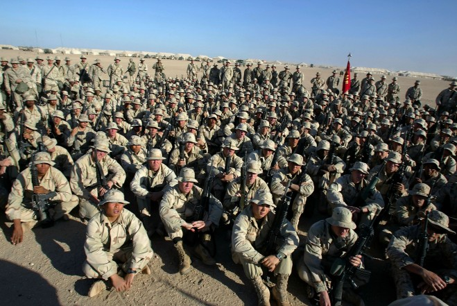 U.S. Marines In Kuwait Prepare For Looming Iraq War