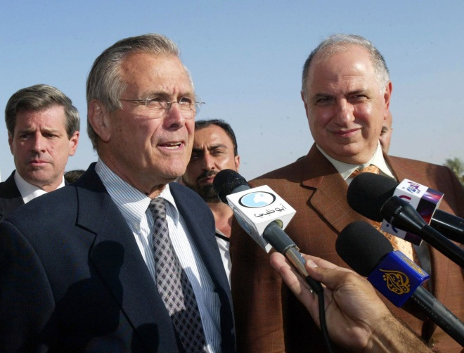 US Secretary of Defense Donald Rumsfeld