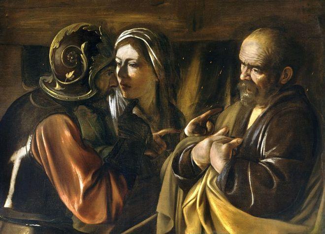 800px-The_Denial_of_Saint_Peter-Caravaggio_(1610)