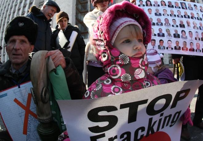 UKRAINE ECOLOGY-GAS-PROTEST