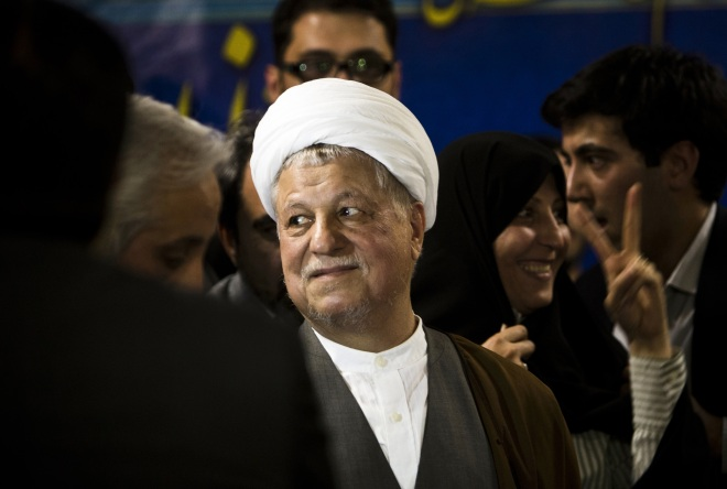 IRAN-VOTE-REGISTRATION-RAFSANJANI