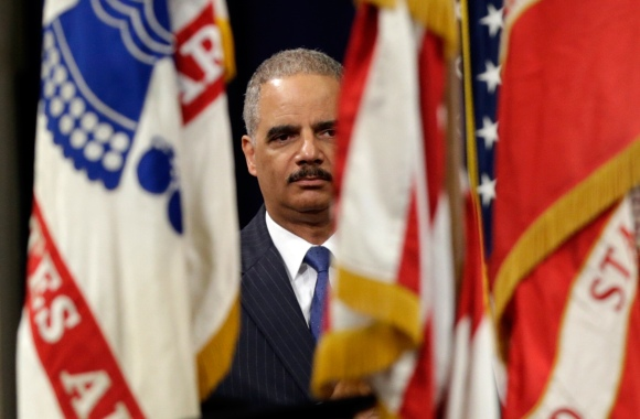 Holder Speaks At Naturalization Ceremony At Justice Department