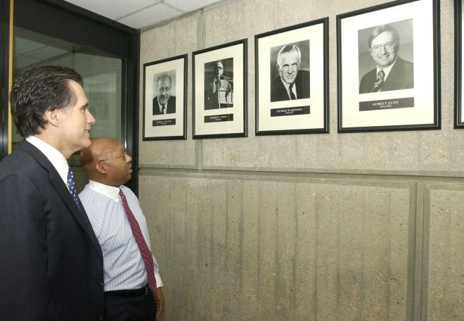 Mitt Romney With HUD Secretary