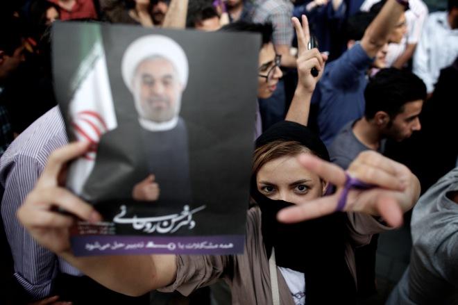 IRAN-VOTE-ROWHANI-WIN