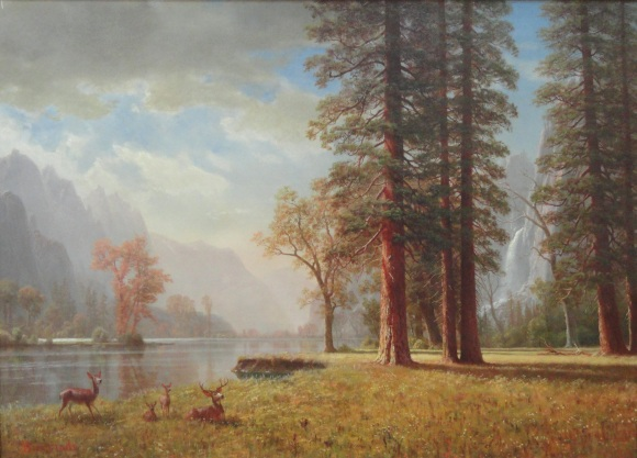 Hetch_Hetchy_Valley,_California,_by_Albert_Bierstadt,_undated_-_Museum_of_Fine_Arts,_Springfield,_MA_-_DSC03988