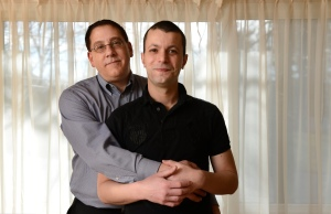Story about gay bi-national couples who are in a bind because their spouses cannot get visas under current immigration law