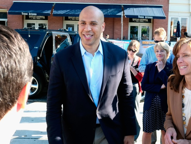 Corey Booker Thanks Constituents After Winning Primary