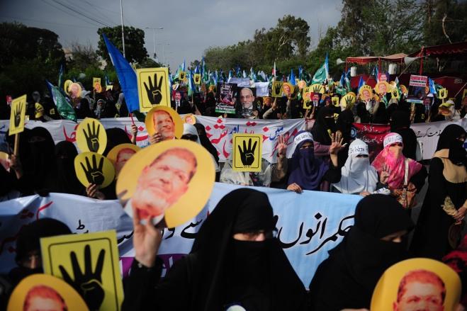 PAKISTAN-EGYPT-UNREST-PROTEST