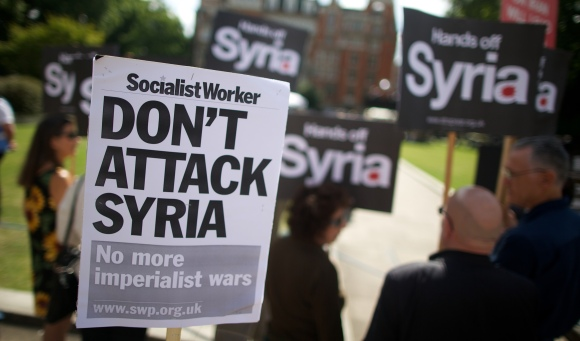 BRITAIN-SYRIA-CONFLICT-DEMO