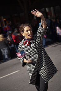 GOP Candidates Rick Perry And Michelle Bachmann Appear At Columbia, SC Veterans Day Parade