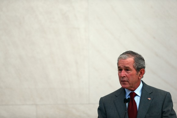 George W. Bush Speaks At Naturalization Ceremony At Bush Presidential Center