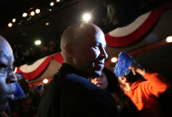Newark Mayor And Senate Hopeful Cory Booker Attends Election Night Gathering