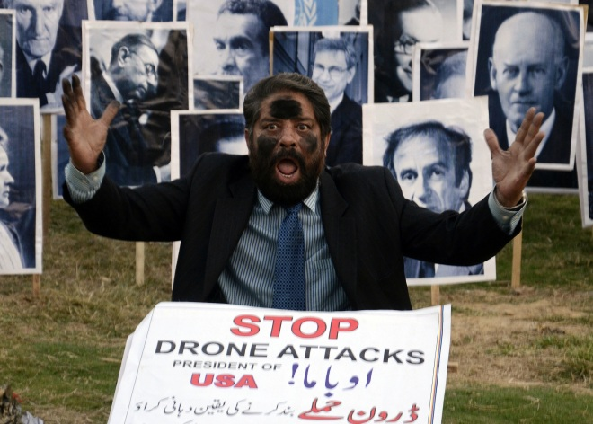 Protest against US drone attacks in Islamabad