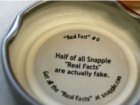 Snapple Facts Fake