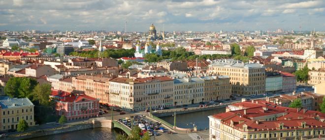 St-Petersburg stacks circled