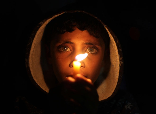Protest in Gaza against power cuts