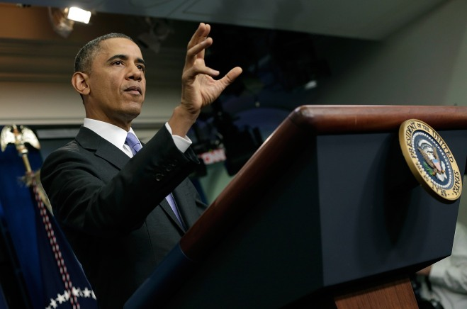 Obama Speaks On The Affordable Care Act In White House Briefing Room