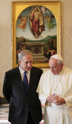 Israeli Prime Minister Benjamin Netanyahu Meets With Pope Francis