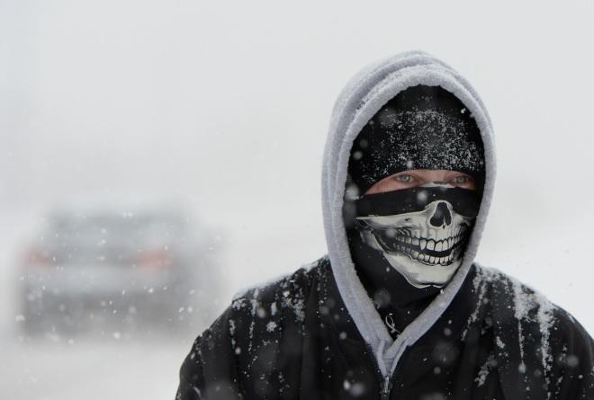 Freezing temperatures and snow in Colorado