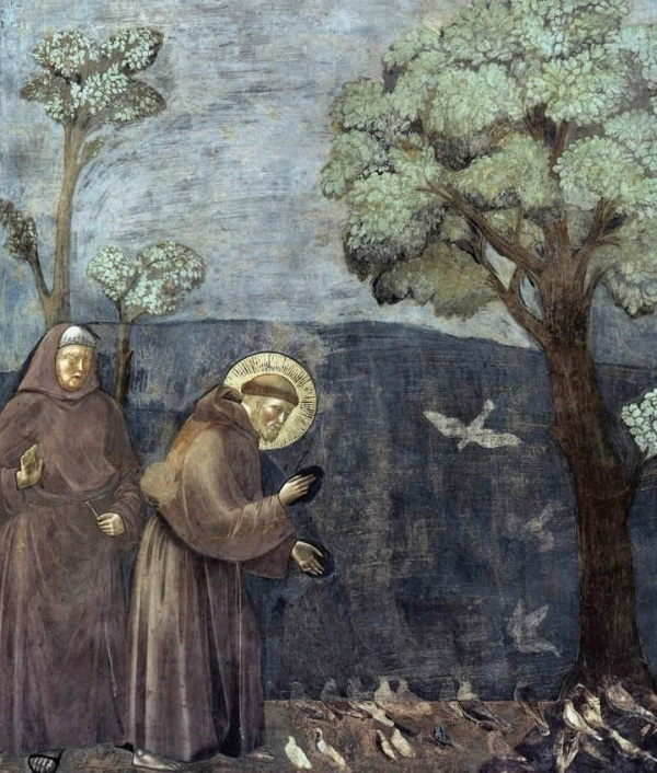 St. Francis Preaching to the Birds / Giotto