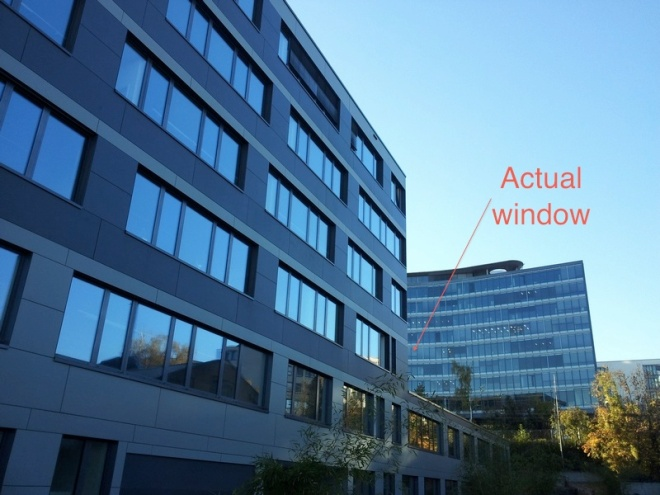 Actual window