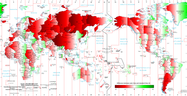 Solar Time Map