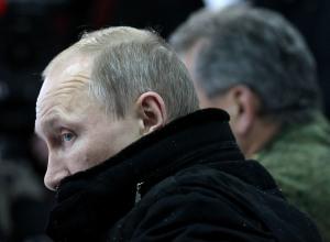 Russian President Vladimir Putin Attends Military Exercise Near Saint Petersburg