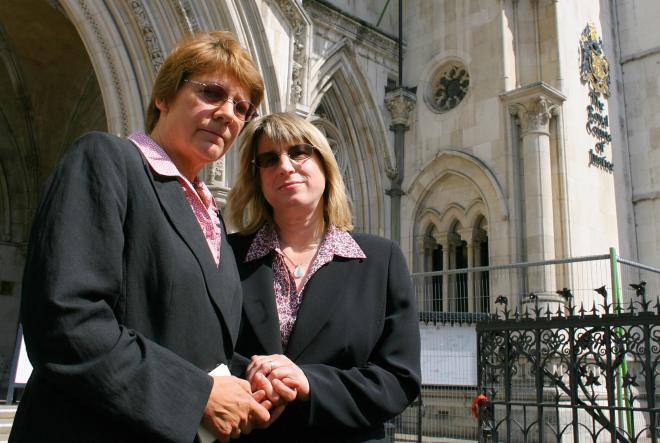 Sue Wilkinson (L) and Celia Kitzinger ad