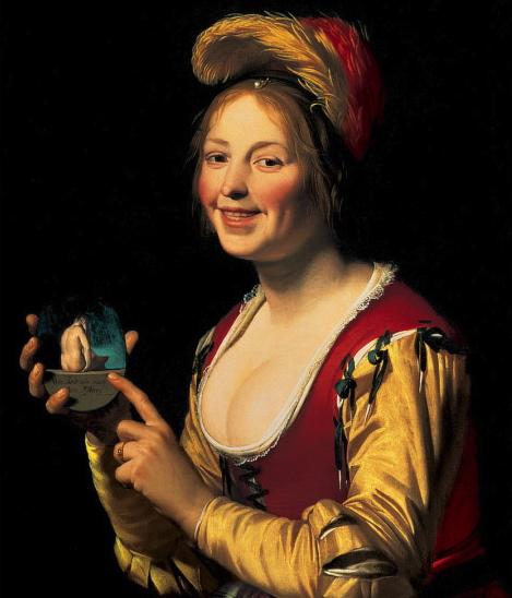 Smiling_Girl,_a_Courtesan,_Holding_an_Obscene_Image 2