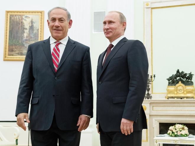 Meeting of Vladimir Putin with Benjamin Netanyahu in Kremlin