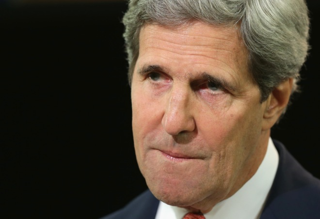John Kerry Makes Statement On Ukraine At U.S. State Department
