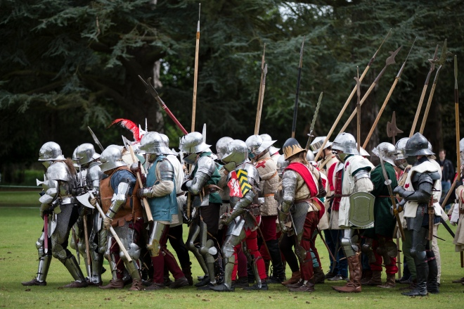 Re-enactors Take Part in St George's Festival at English Heritage's Wrest Park Estate